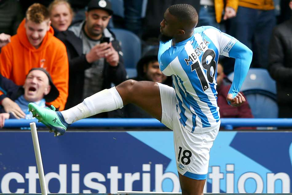 Huddersfield Town Manchester United Isaac Mbenza