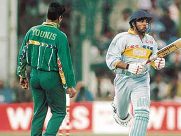 Ajay Jadeja (India), 45 off 25 vs Pakistan, 1996
