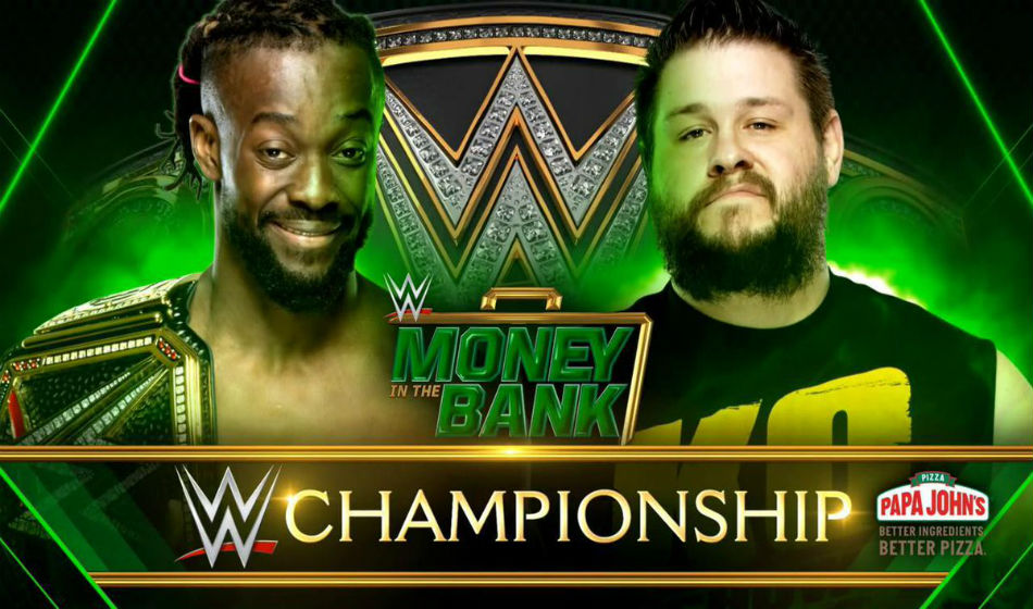 WWE title match poster for Money in the Bank (image courtesy Twitter)