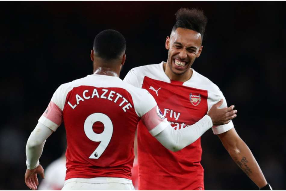 Arsenal duo Alexandre Lacazette and Pierre-Emerick Aubameyang continue to work on their already hugely effective partnership.
