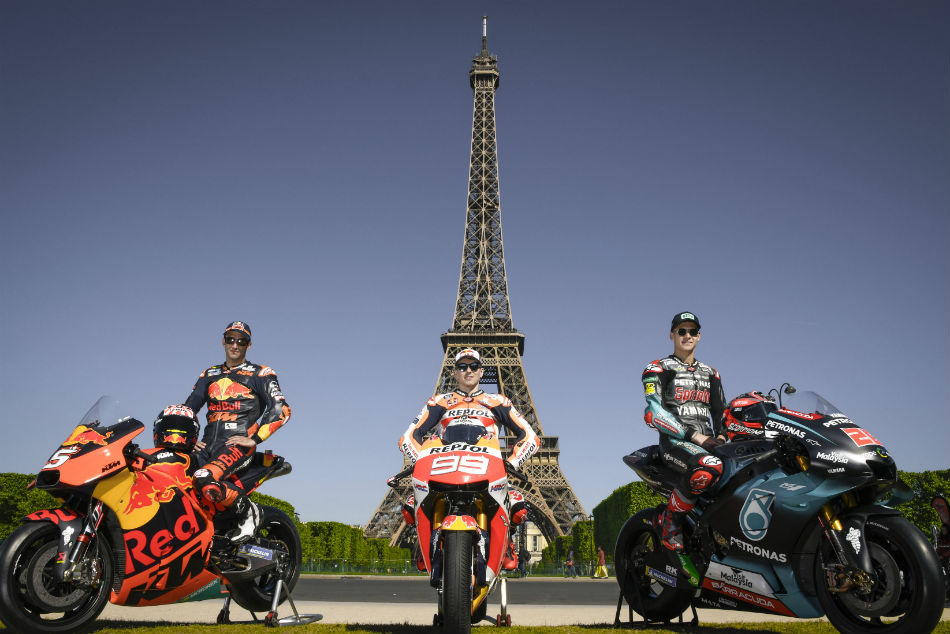 Motogp Riders Make A Pit Stop In Paris