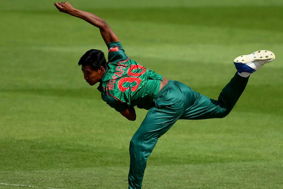 Mustafizur Rahman was the pick of the bowlers for Bangladesh, taking 4-43