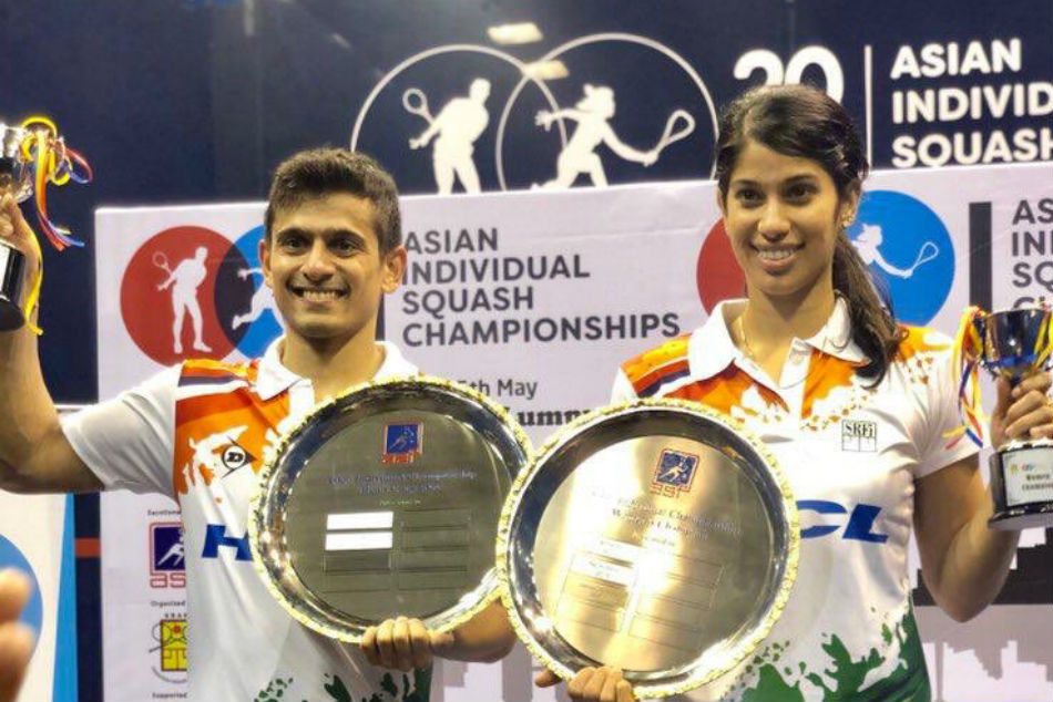 Saurav Ghosal Joshna Chinappa Win Asian Squash Titles