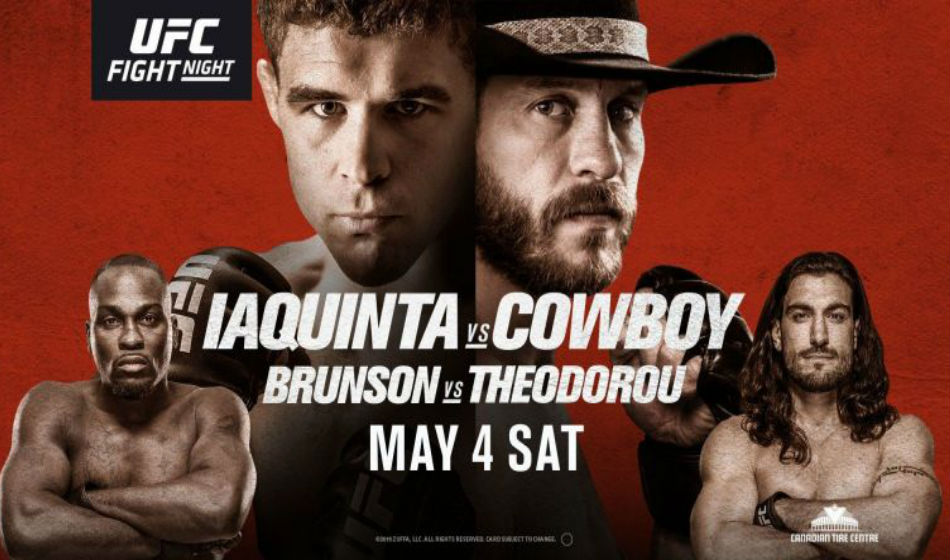 Ufc Fight Night 151 Iaquinta Vs Cowboy Fight Card And Schedule