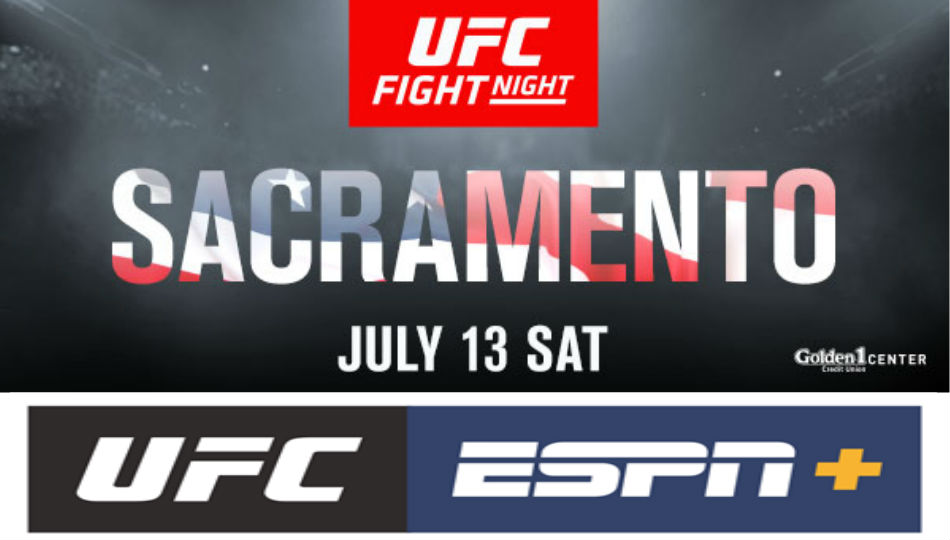 Ufc Returns To Sacramento On July 13 At Golden 1 Center