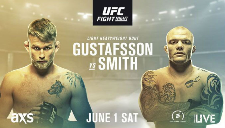Ufc Fight Night 153 Gustafsson Vs Smith Fight Card And Schedule