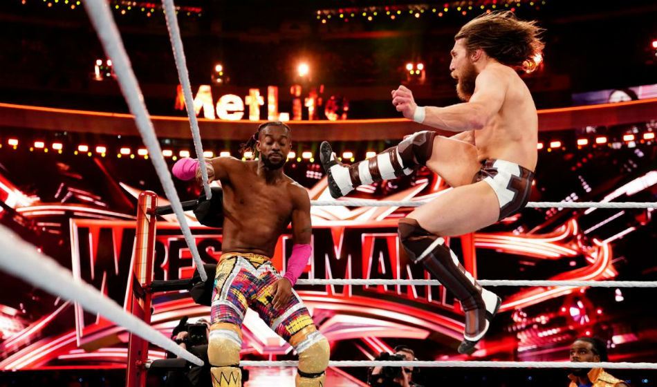 Daniel Bryan in action at Wrestlemania 35 (image courtesy WWE.com)