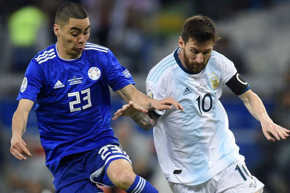 Miguel Almirons Newcastle United poked fun at Lionel Messi after Paraguays Copa America draw with Argentina.