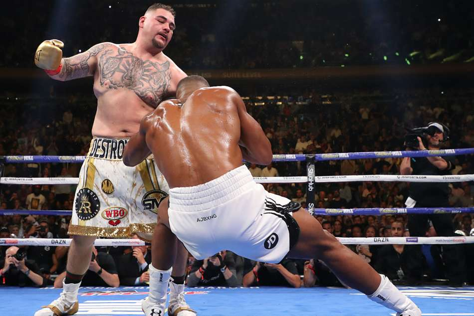 Anthony Joshua Heavyweight Belts Andy Ruiz Jr