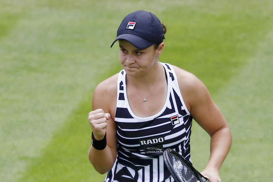 Ashleigh Barty beat Donna Vekic at the Birmingham Classic