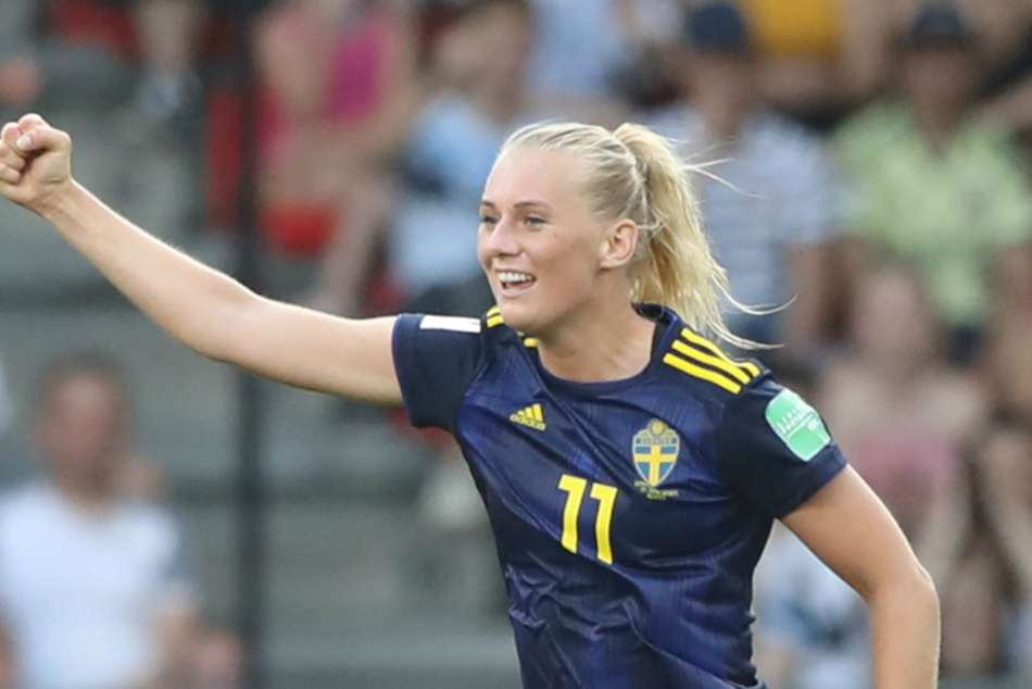 Stina Blackstenius scored the decisive goal for Sweden against Germany