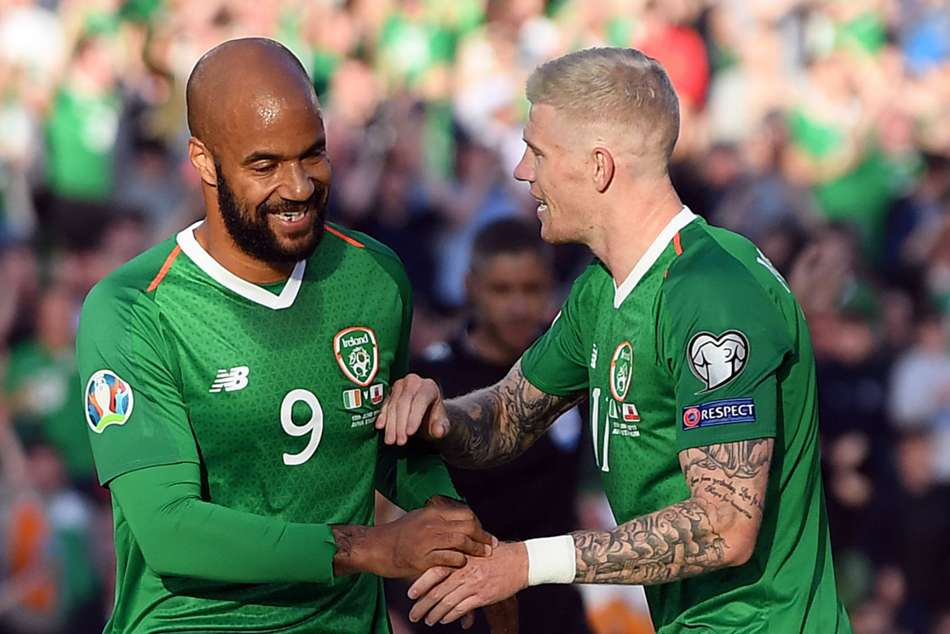 David McGoldrick (left) played a role in Irelands opening goal