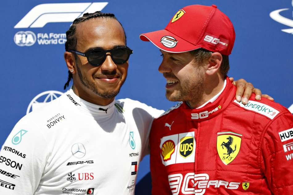 F1 Raceweek Hamilton Still Optimistic Despite Vettels Pole Pace Mercedes Ferrari