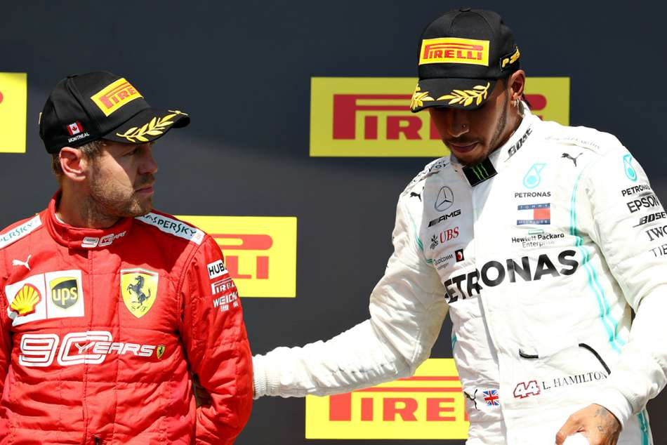 Awkward Scenes Vettel Joins Hamilton Before Podium F1 Formula One 2019 Canada