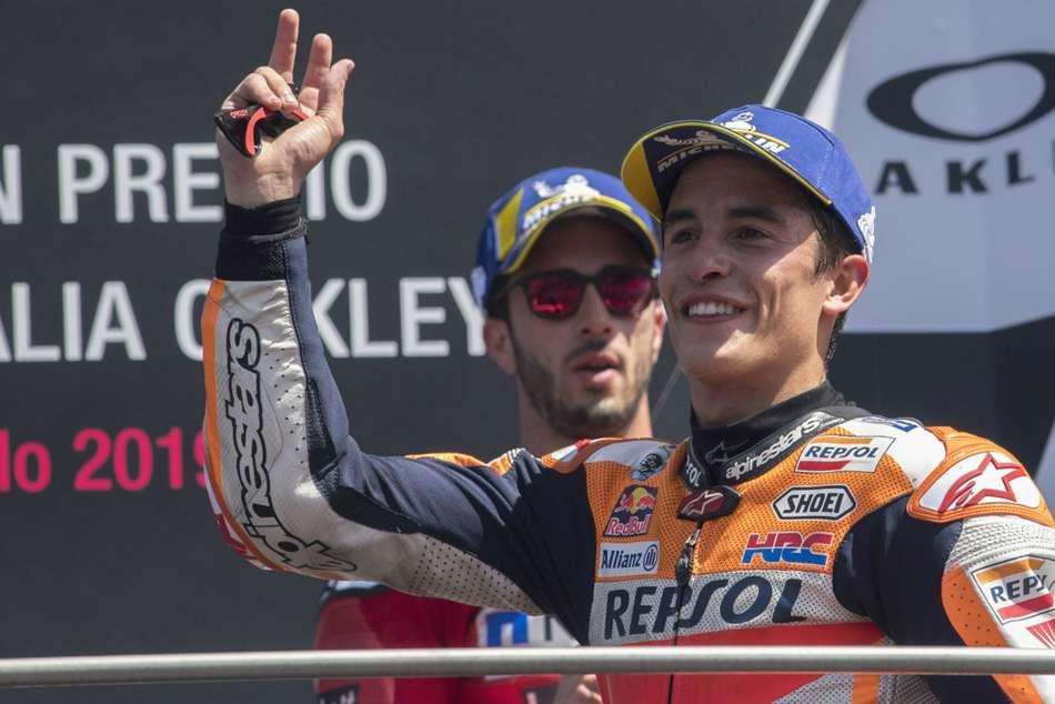 Marc Marquez Thrilled Second Worst Race Petrucci Dovizioso Italian Gp Moto Mugello