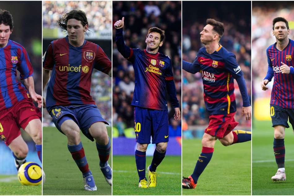 Lionel Messi Barcelona Through The Years Laliga Argentina