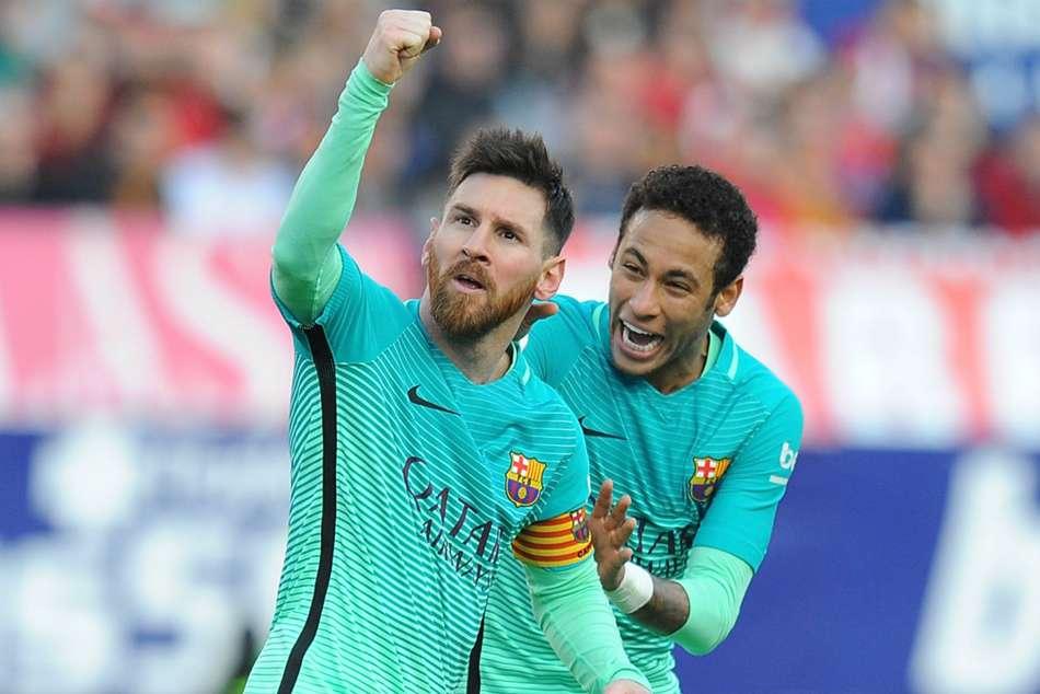 Neymar wishes Messi happy birthday as Barcelona return rumours grow