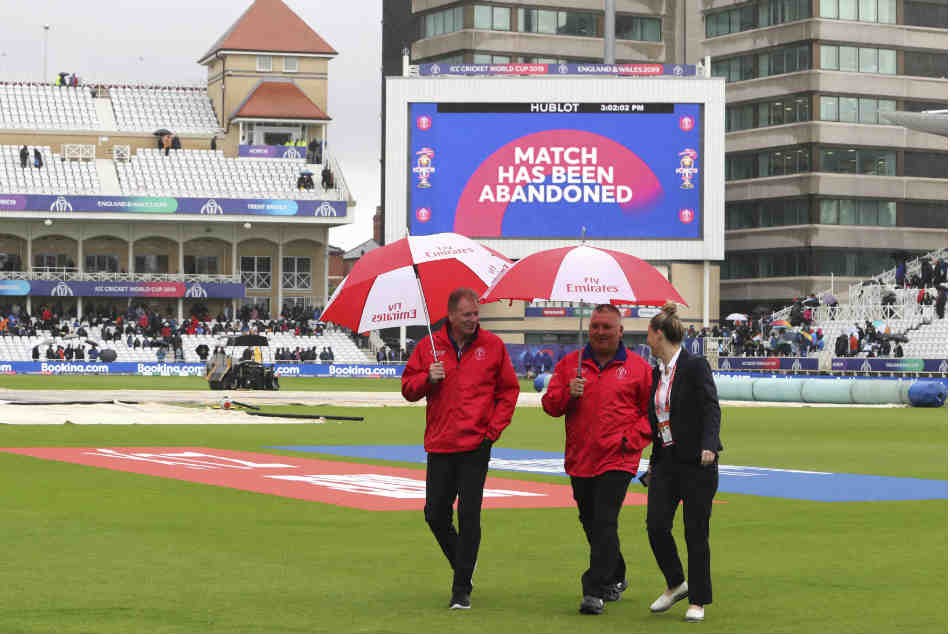 The India vs New Zealand match was abandoned without a ball being bowled