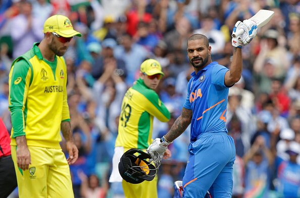 Shikhar Dhawan hundred powered India