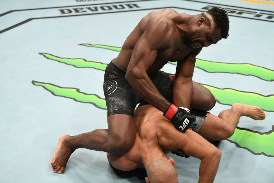 Ufc On Espn 3 Results Ngannou Finishes Dos Santos In A Hurry