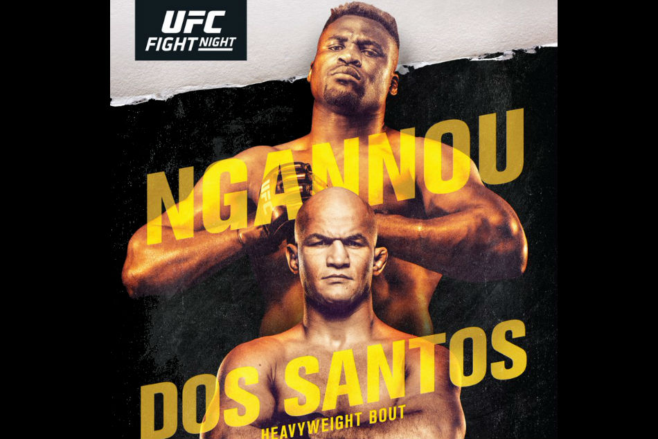 Ufc On Espn 3 Ngannou Vs Dos Santos Fight Card And Schedule