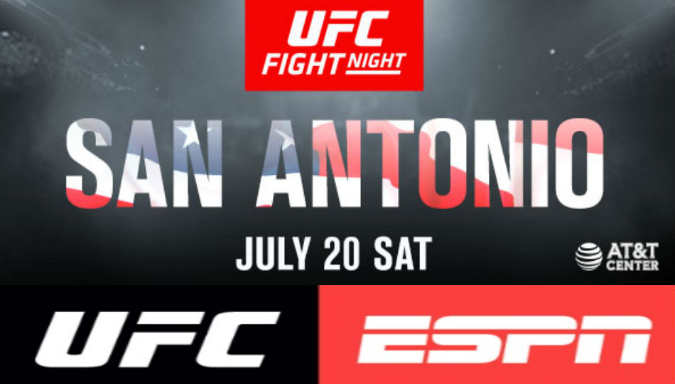 UFC returns to San Antonio on July 20