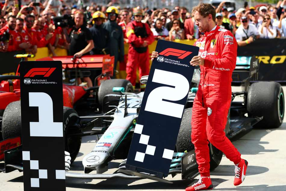 Furious Vettel P1 P2 Sign Hamilton Car Canada Drama Mercedes