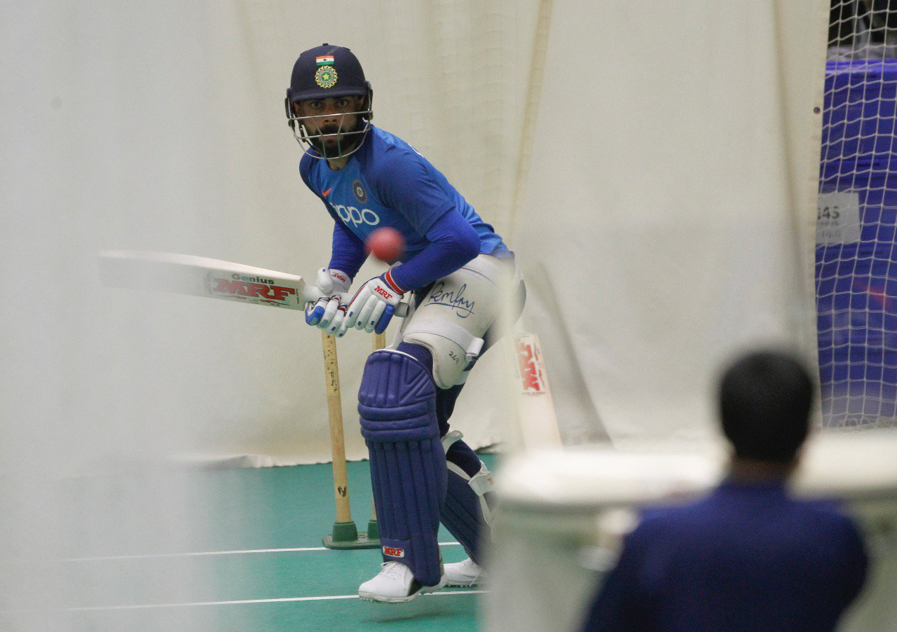 Icc World Cup 2019 Team India Practice Indoors As Rain Washes Out Outdoor Session