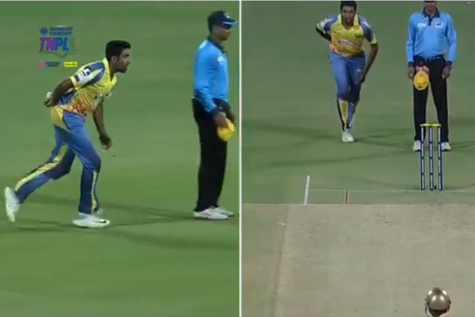TNPL 2019: R Ashwin attempts unique bowling action during match, succeeds in trapping the batsman - Watch