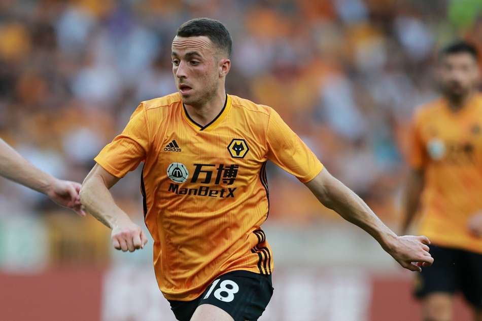 Diogo Jota struck late in the first half to put Wolves in front