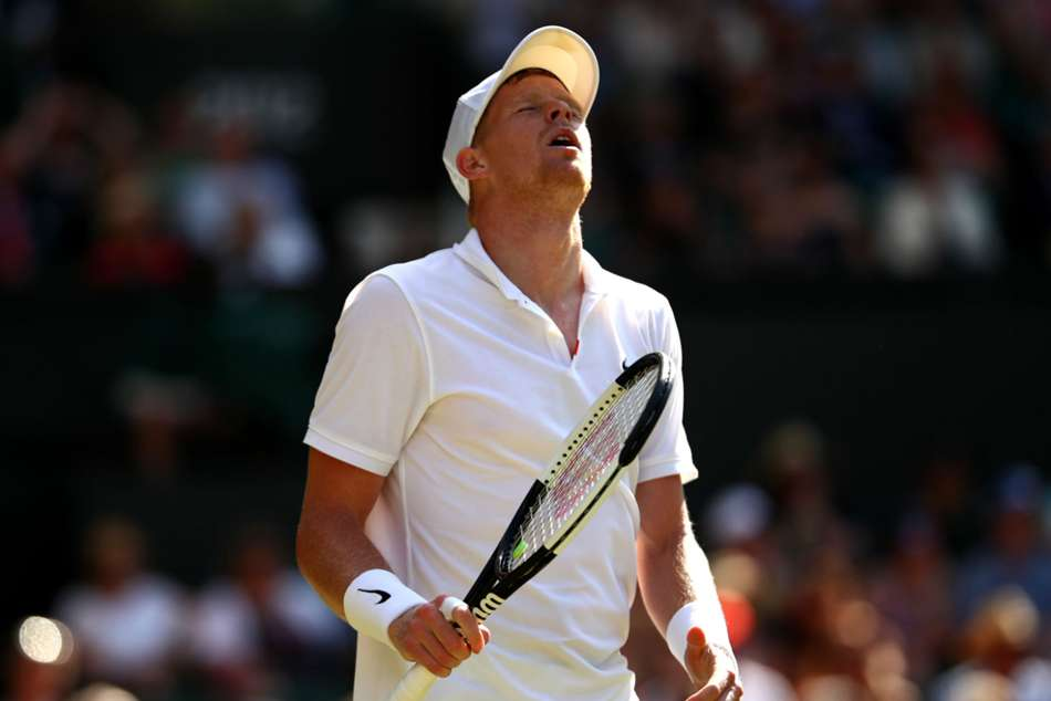 British number one Kyle Edmund gave up a two-set lead to Fernando Verdasco