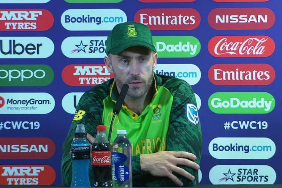 SA captain du Plessis also handled media meets well