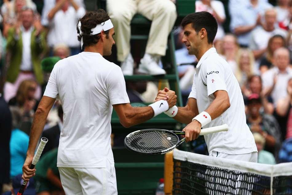 Roger Federer Novak Djokovic Wimbledon Final Excited Brutal