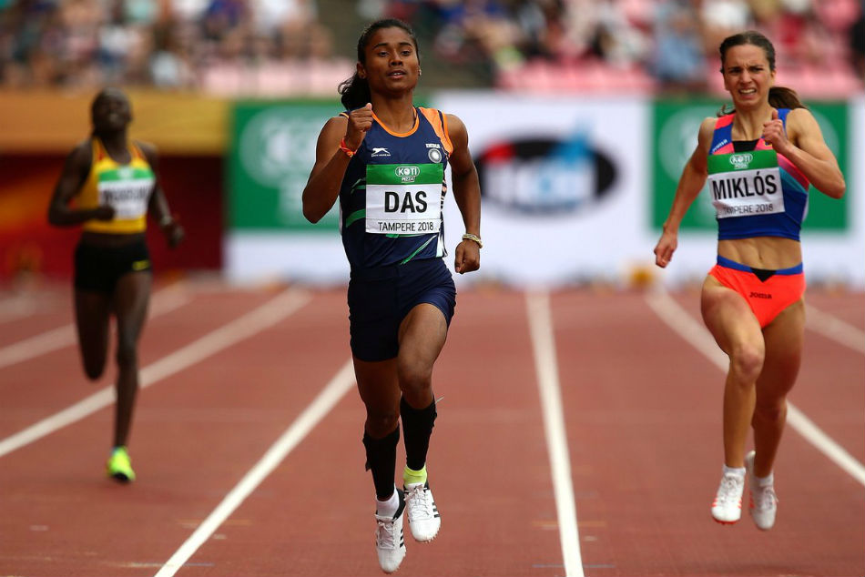 'Golden girl' Hima Das wins fourth gold in 15 days, Anas also wins top spot