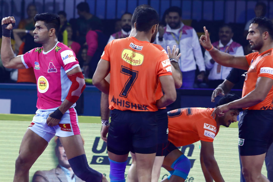 Pro Kabaddi League 2019: Match 5: Captain Deepak shines as all-round Jaipur Pink Panthers hammer U Mumba by 42-23
