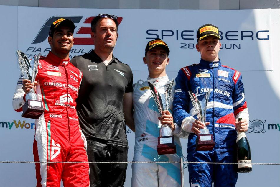 Jehan Daruwala Shines At Austrian Grand Prix Wins Second Place F3 Race