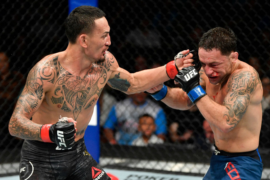 Max Holloway (left) earned decision win over Frankie Edgar at UFC 240 (Image Courtesy: Twitter)