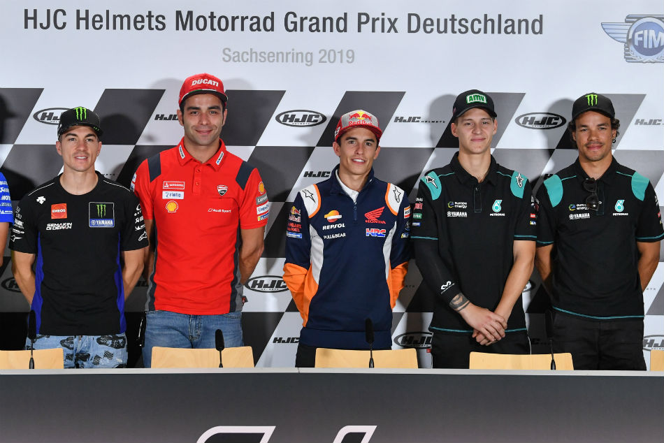 German Motogp Fighting Talk At The Sachsenring