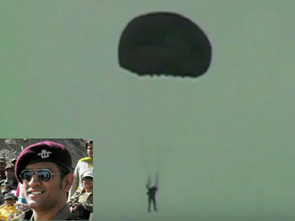 Dhoni is a qualified Paratrooper