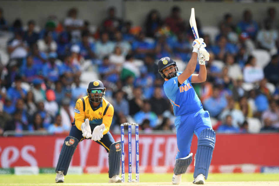 Rohit Sharma powered Indias seven-wicket win over Sri Lanka with his fifth hundred in the ICC World Cup 2019