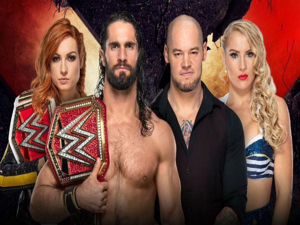 Winners Take All Match: Seth Rollins & Becky Lynch vs. Baron Corbin & Lacey Evans (Extreme Rules Match)