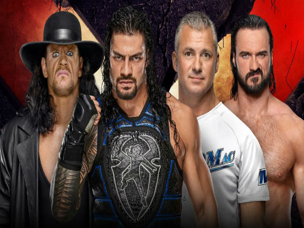 Tag Team Match: Roman Reigns & The Undertaker vs. Shane McMahon & Drew McIntyre (No Holds Barred Match)