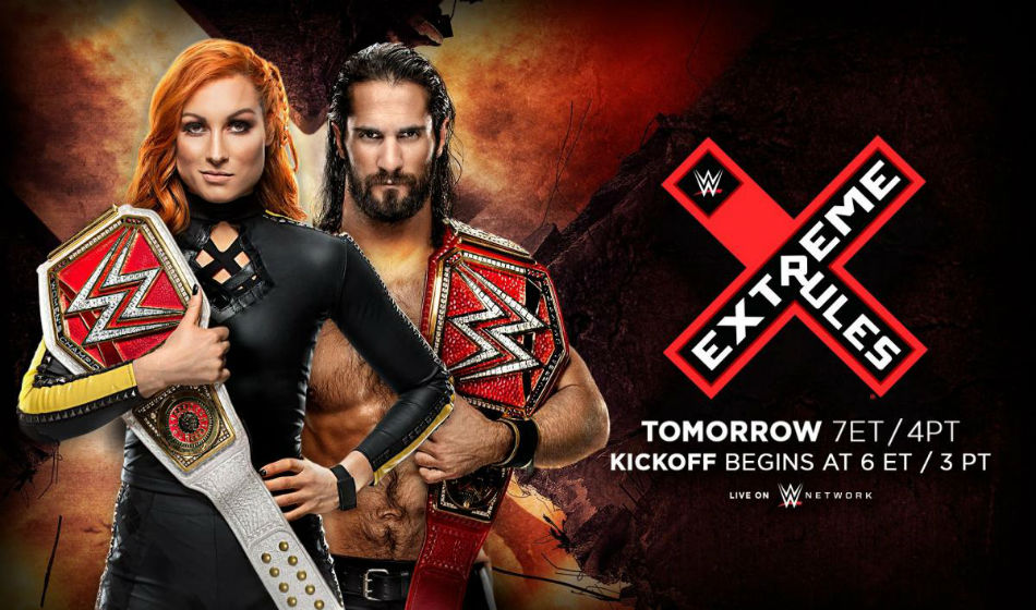 Extreme Rules 2019 poster (image courtesy Twitter)