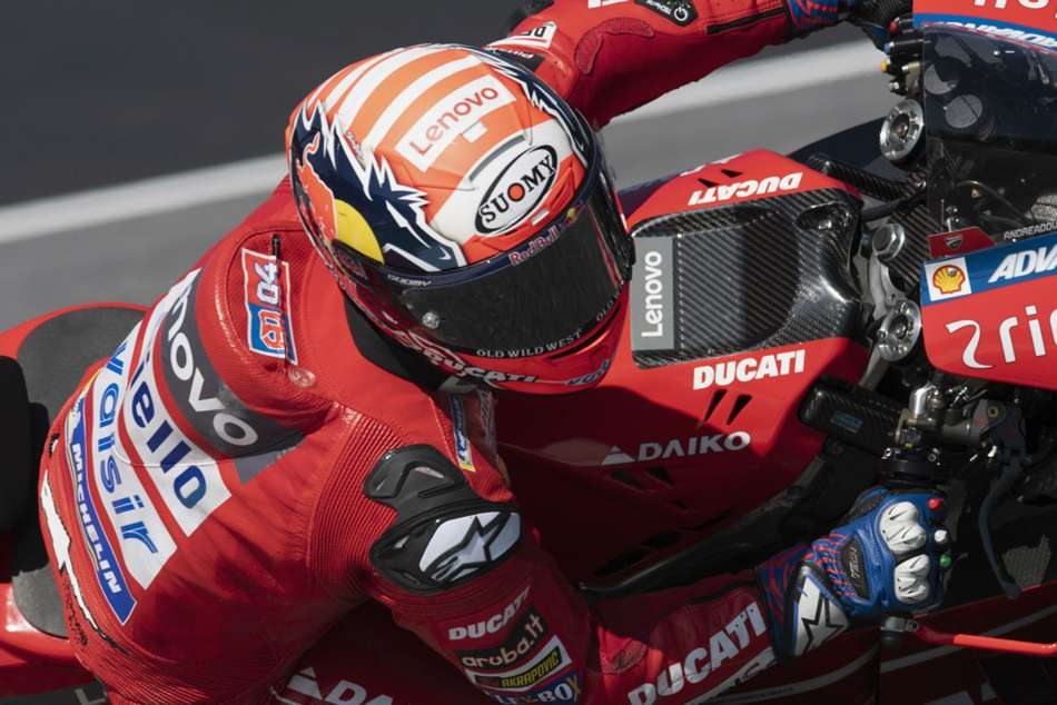 Dovizioso passed Marc Marquez on the final corner to win the Austrian GP