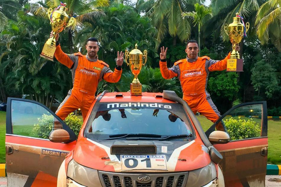 Team Mahindra Adventure S Gaurav Gill Wins Third Dakshin Dare Title In Style