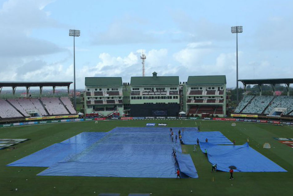 India Vs West Indies: 1st ODI: Match abandoned due to rain, wet outfield in Guyana