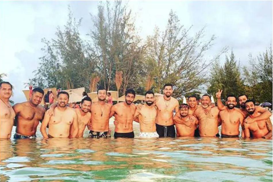 India Vs West Indies: Ahead of Test Championship, Virat Kohli enjoys beach party with teammates in Antigua