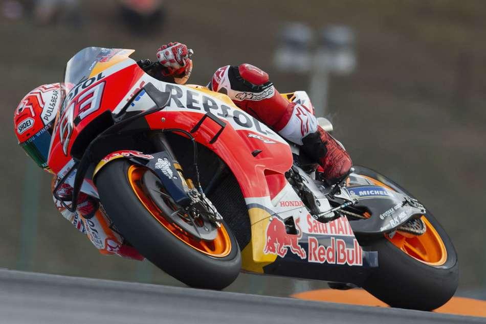 Motogp Raceweek Marquez Defies Brno Rain For Record Equalling Pole
