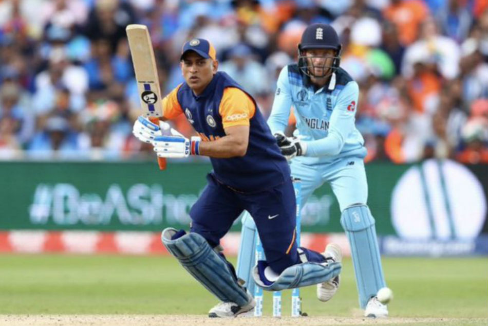 Dhoni sustained a hairline fracture during England WC game