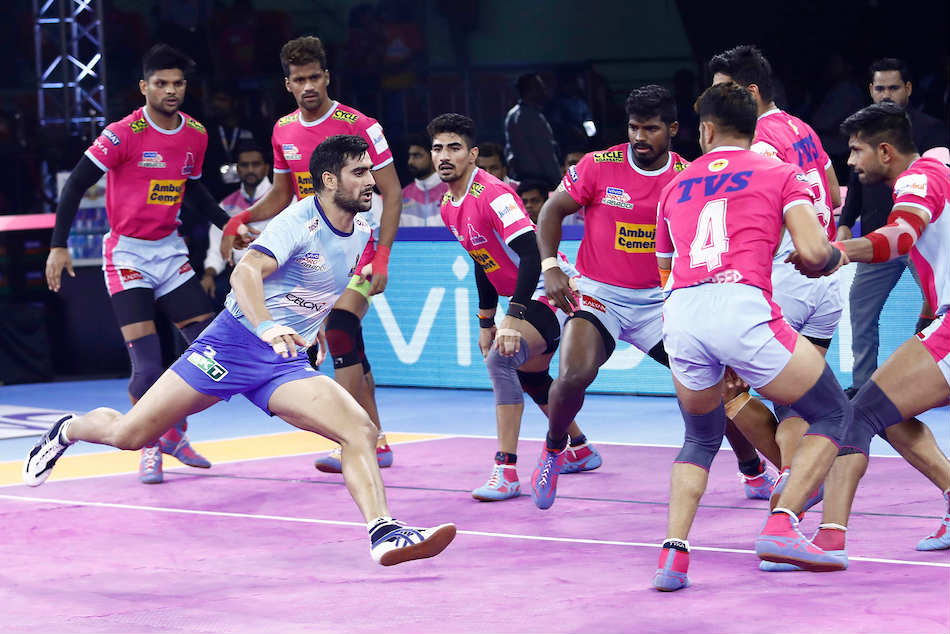 Pkl 2019 Table Toppers Jaipur Pink Panthers Open Up 7 Point Lead After Defeating Tamil Thalaivas